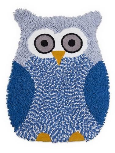 tappeto gufo blu