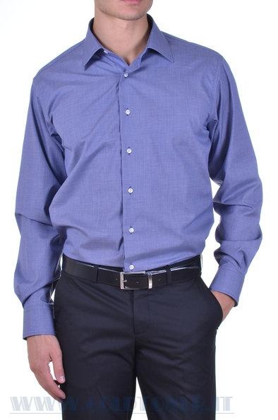 frarica camicia in cotone azzurro intenso
