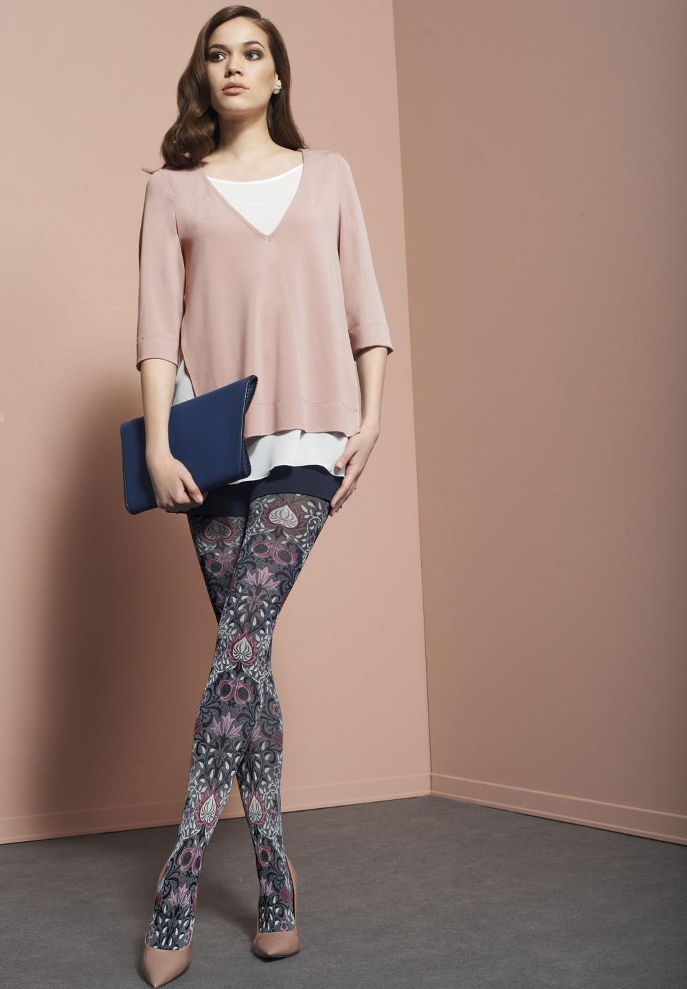 maglia bicolore rosa antico