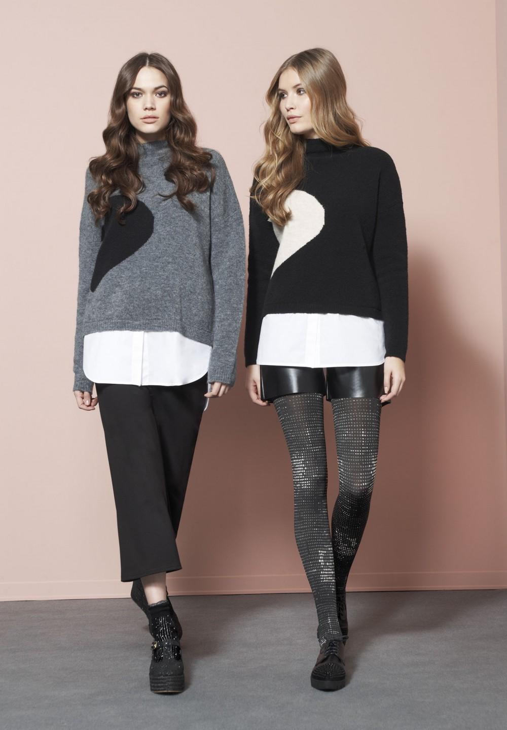 maglione e camicia