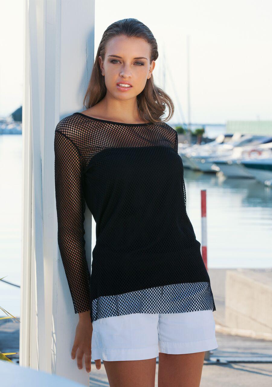 maglia manica lunga effetto tricot