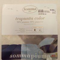 Somma trapunta in piuma tinta unita, 2 colori