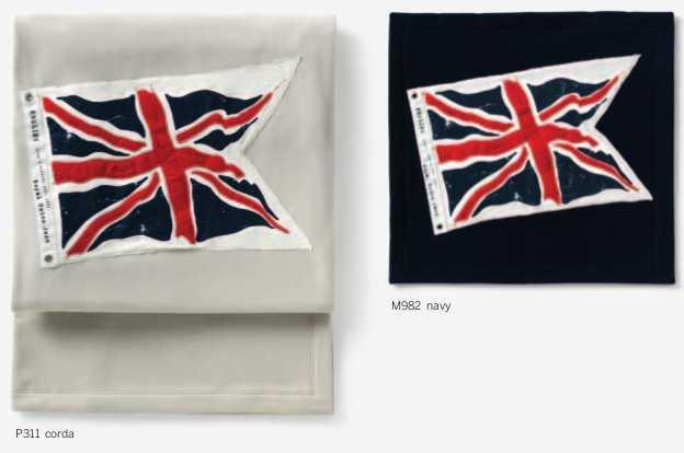 Plaid pile Maryplaid con ricamo di bandiera inglese