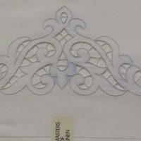 graziano lenzuolo in lino ricamato