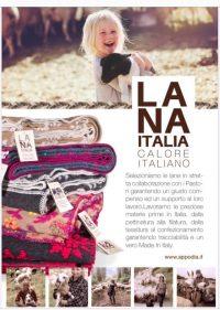Plaid/coperta lana cotta Lana Italia dis.Margherite