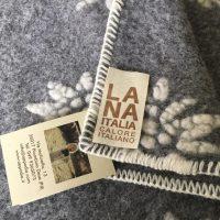 Plaid/coperta lana cotta Lana Italia dis.Stella
