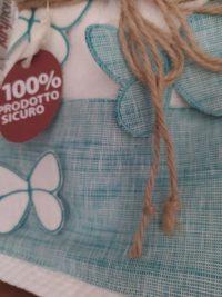 Coppia asciugamani salvietta + ospite ricamate Maryhome