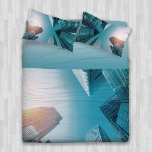 completo-lenzuolo-copriletto-skyscrapes gabel